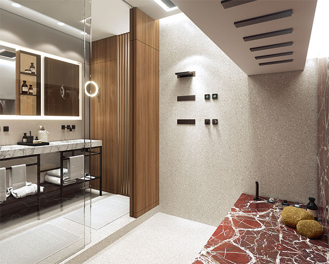 Bathroom Floor Edge Trim